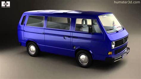 volkswagen models van volkswagen transporter t3 passenger van 1990 by 3d model