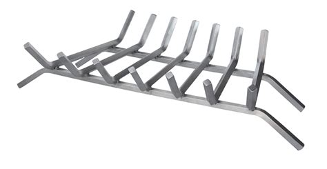 stainless steel fireplace grate uniflame 30 inch stainless steel bar grate uniflame c
