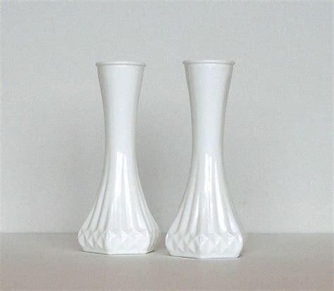 Hoosier Milk Glass Vase by Cij Sale Vintage Hoosier Milk Glass Bud Vases Opaque