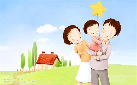 wallpaper cartoon family high resolution lovley illustraion of family love