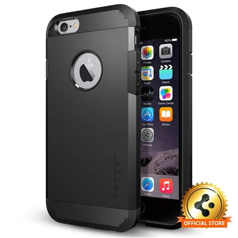 Spigen Shockproof Iphone 6 Plus Iphone6 Hardcase Iphone 6plus spigen 174 tough armor apple iphone 6 6s shockproof protective tpu cover ebay