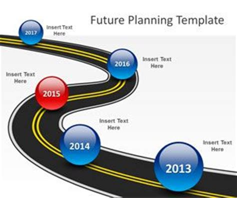 Free Future Planning Powerpoint Template Free Powerpoint Free Roadmap Template Powerpoint