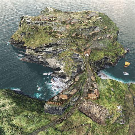 Tinta Gl Tintagel Castle Cornwall Monumental