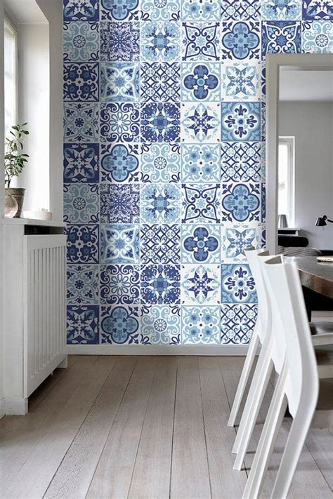 tile decals for kitchen backsplash portuguese blue tile stickers tile decals kitchen