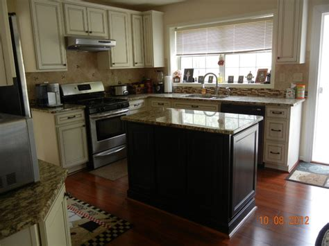 Kitchen Island Java Bolton Maple By Prelude Cabinetry Ivory With Coco