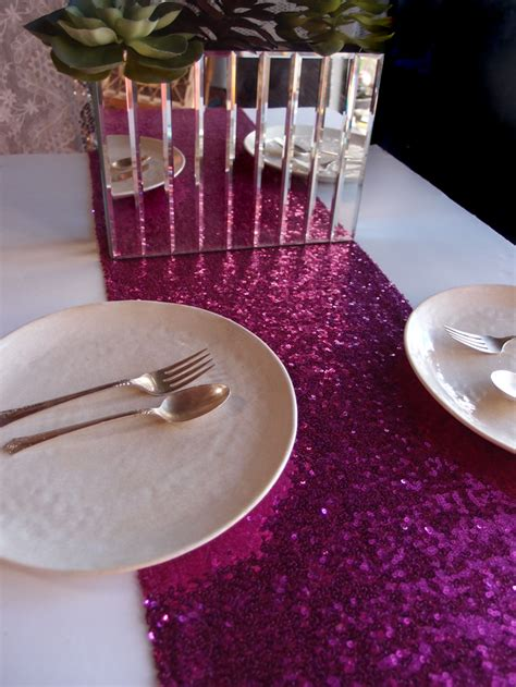 light pink sequin table runner sequin table runner fuchsia pink 12 x 108