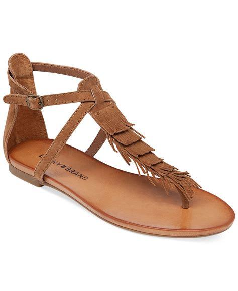 fringe sandals lucky brand s wekka fringe flat sandals in