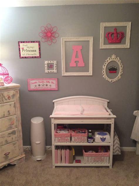 baby girls nursery pink  gray diy wall decor