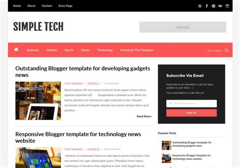 simple tech blogger template 2014 free download