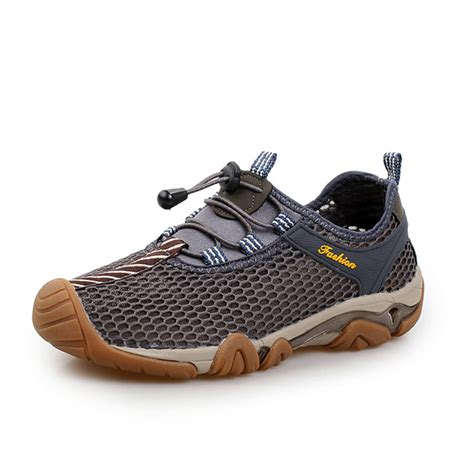 mens outdoor breathable athletic shoes elastic slip on