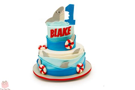 baby shark bday cake shark first birthday cake 187 celebration cakes
