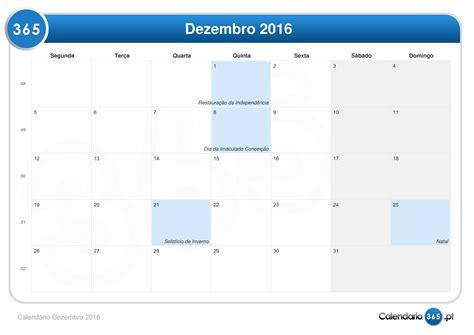 Calendario Dezembro Calend 225 Dezembro 2016