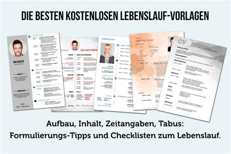 Kostenloser Lebenslauf by Lebenslauf Vorlagen Tipps Und Gratis Word Muster