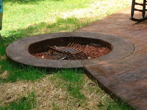 Concrete Firepits Sted Concrete Patio With Pit
