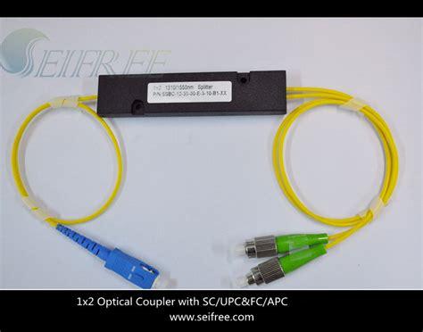 Fiber Optic Passive Splitter 1x2 With Modulebox china passive optical device 1x2 1310 1550nm fiber optic splitter china splitter catv splitter