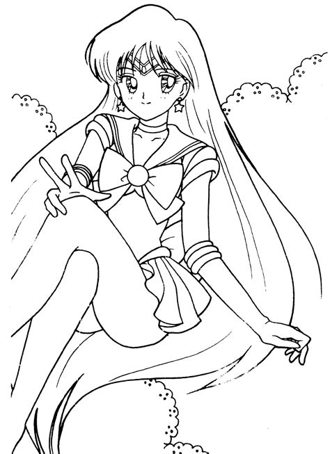 sailor moon and friends coloring pages www pixshark com