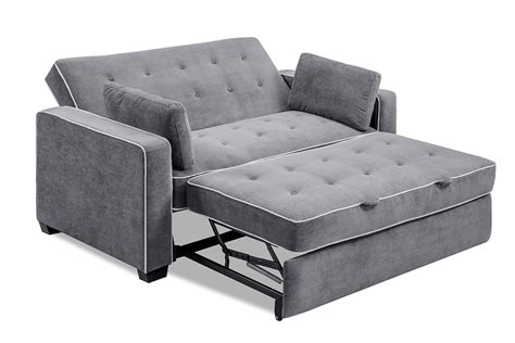 loveseat sleeper augustine loveseat sleeper moon grey by serta lifestyle