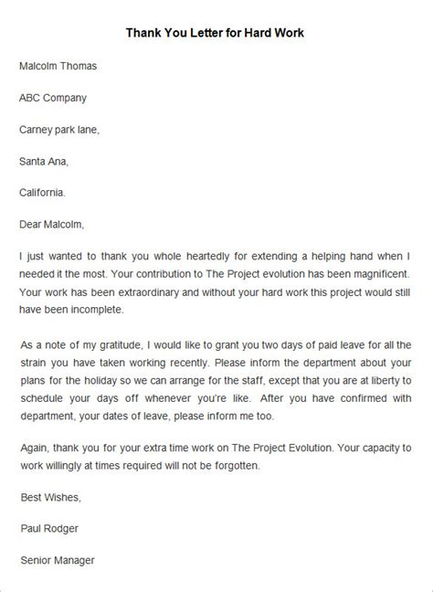 thank you letter for award at work employee thank you letter template 20 free word pdf
