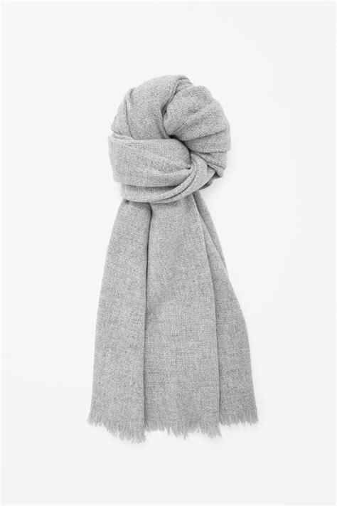cos oversized wool scarf in gray grey lyst