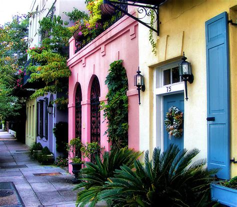 Home Decor Charleston Sc by Quot Summertime On Rainbow Row Quot By Lukeeverett Redbubble