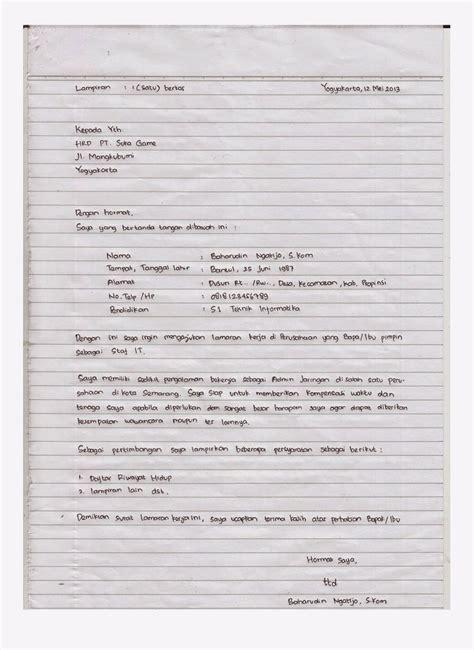 cara membuat lamaran kerja guru sd contoh laporan untuk tugas bahasa indonesia contoh laporan