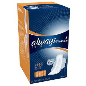 Infinity Overnight Pads Always Infinity Overnight Pads With Wings Drugstore