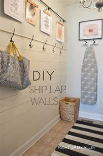 Shiplap Wood Wall Right Up My Alley Diy Ship Wall