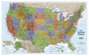 flat map of the united states united states map