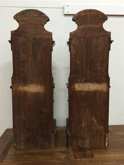 mensole muro coppia di mensole a muro in palissandro