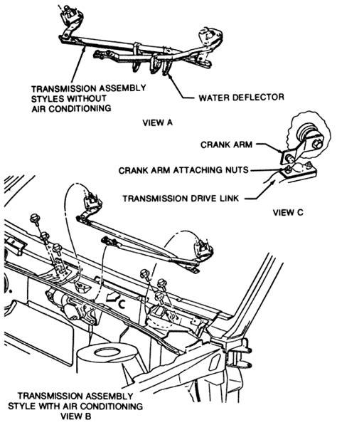 windshield wiper linkage diagram repair guides windshield wipers wiper linkage