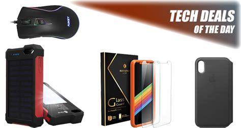tech deals 6 rgb gaming mouse 2 iphone x screen protectors for 8 apple leather folio more