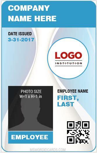staff card template 10 best staff id card templates ms word microsoft word