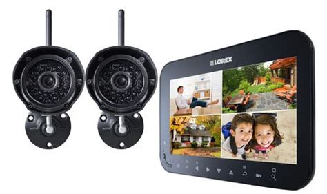 lorex by flir 7 quot wireless surveillance system 2 cameras