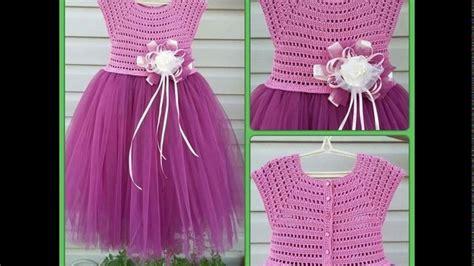 vestidos para nias con tejido bellos vestidos de ni 241 as con tul tejidos youtube