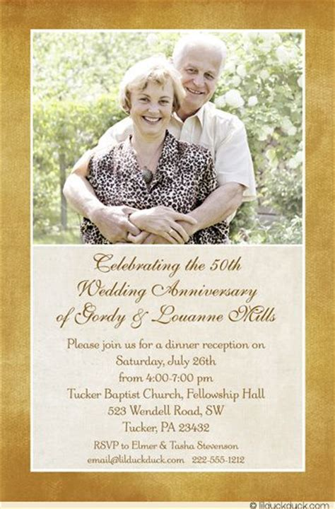 50th wedding anniversary invitation colors wedding and photos