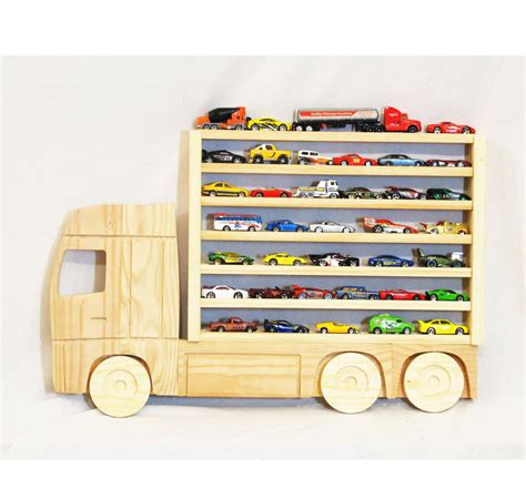 Matchbox Car Display Shelf wooden truck hanging storage display shelf for by whataboutwood