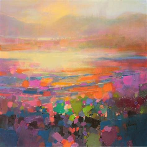 abstract landscape painting diminuendo shore 40cm sold naismith