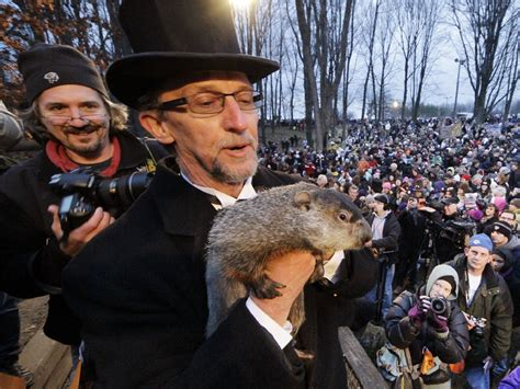 groundhog day news groundhog day 6 more weeks of winter cbs news