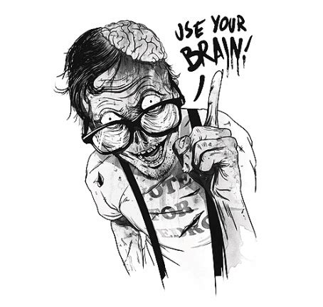 imágenes hipster zombie use your brain on tumblr