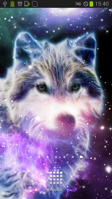 wallpaper galaxy wolf starfield wolf galaxy magic fx android apps on google play