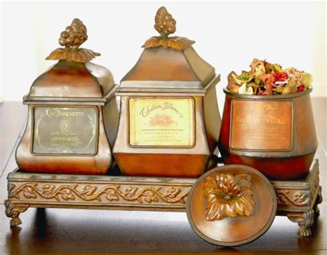 wine label tuscan decor boxes canister set tray