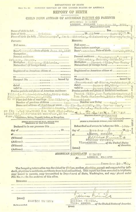 Consular Record Of Birth Abroad 12 Best Images Of Certificate Of Birth Abroad On Consular Report Of Birth Abroad