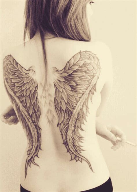 tatuajes de 225 ngeles para mujer dise 241 os increibles