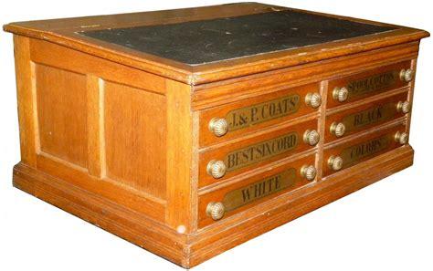 6 drawer spool cabinet j p coats six drawer slant top spool cabinet