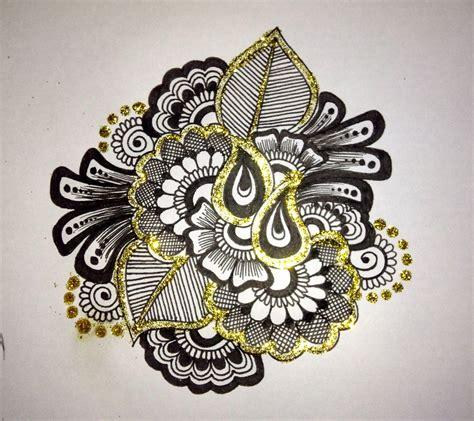 draw a pattern using flower as motif mehndi drawing flower motif 2 youtube