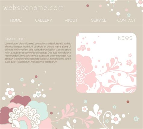 simple web design template vector material two research 4 designer the pink website design template vector material