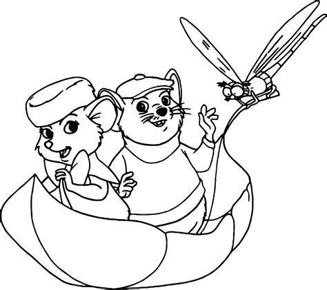 the rescuers bernard bianca evin rude coloring pages