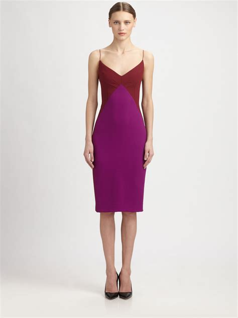 Who Wore It Better Narciso Rodriguez Lavender Tie Dress by Narciso Rodriguez Spaghetti Dress In Purple Maroon