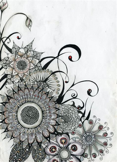 pattern art tattoo flowers by lindzb on deviantart