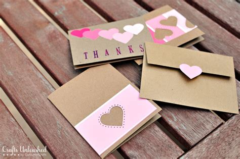 Handmade Thank You Cards Ideas - paint chip handmade thank you cards